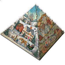 3D Pyramid Puzzle - The Four Seasons - 101-499 Pieces