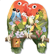 Shaped Jigsaw - Love Birds - 500-999 Pieces