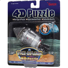 Command Module Rocket - 4D Puzzle - Puzzles - Children