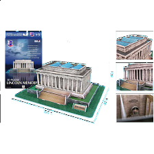 Lincoln Memorial - 3D Jigsaw Puzzle - 3D