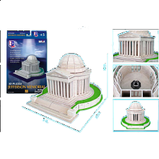 Jefferson Memorial - 3D Jigsaw