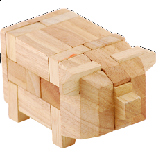 Animal Puzzle - Pig - Wood Puzzles