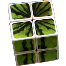 2x2x2 Arbuz - Watermelon - White Body - Other Rotational Puzzles