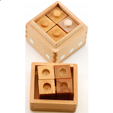 Dice Box - Cubes with Holes and Pins - 10 pieces