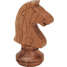 Knight Chess Piece - 3D Wooden Jigsaw Puzzle - Wood Puzzles