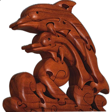 Dolphin - 3D Wooden Jigsaw Puzzle - Other Wood Puzzles