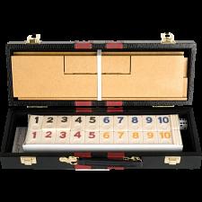 Rummy - Deluxe (106 Tiles with Wooden Racks & Latching Case) -