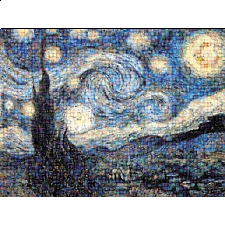 Photomosaic: Van Gogh: Starry Night
