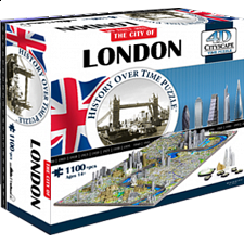 4D City Scape Time Puzzle - London - 1001 - 5000 Pieces