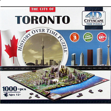 4D City Scape Time Puzzle - Toronto - 1000 Pieces