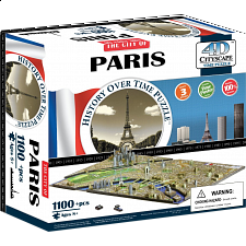 4D City Scape Time Puzzle - Paris - 3D