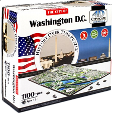 4D City Scape Time Puzzle - Washington D.C. - 3D
