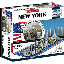 4D City Scape Time Puzzle - New York - 3D
