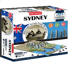 4D City Scape Time Puzzle - Sydney - 1000 Pieces