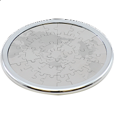 Coaster Puzzle - World Map - Magnetic - Metal