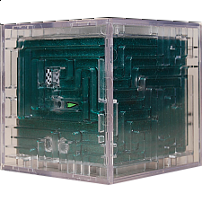 3D Ball Maze: Cube 1 - Metallic Green