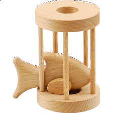 Fish in Cage - Other Wood Puzzles