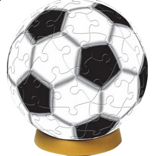 Soccer Ball: 3 inch Jigsaw - 1-100 Pieces