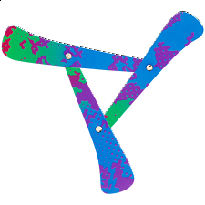 Flexifly - durable synthetic paper boomerang - Boomerangs