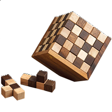 125 Cubes - European Wood Puzzles