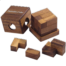 Diabolito Cube - Other Wood Puzzles