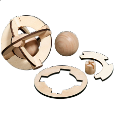 Saturn Puzzle - European Wood Puzzles