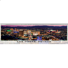 Panoramic: Las Vegas, Nevada - Glow in the Dark