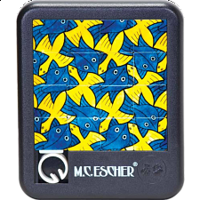 Sliding Pieces Puzzle - M.C. Escher : Birds and Fish - Misc Puzzles