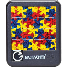 Sliding Pieces Puzzle - M.C. Escher : 3 Fish - Misc Puzzles