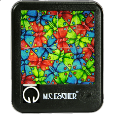 Sliding Pieces Puzzle - M.C. Escher : Butterflies - Sliding Pieces Puzzles