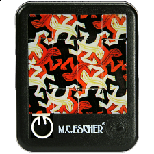 Sliding Pieces Puzzle - M.C. Escher : Lizards - Misc Puzzles