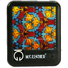 Sliding Pieces Puzzle - M.C. Escher : Birds, Fish and Turtles - Misc Puzzles