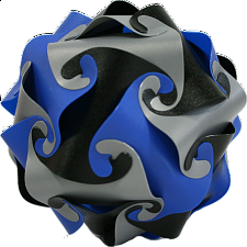 Cyclone Puzzle - Blue, Grey and Black - Misc Puzzles