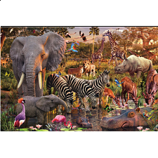 African Animal World - 1001 - 5000 Pieces