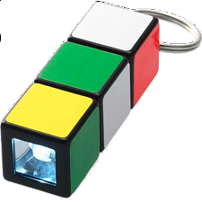 Rubik's Cube: Mini Flashlight Keychain - Rubik's Cube & Others