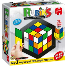 Rubik's: Double Side Challenge Jigsaw Puzzle - 1-100 Pieces