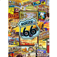 Collector Suitcase Jigsaw - Route 66 - Collector Suitcase Series