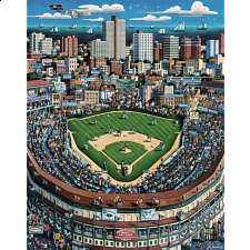 Collector Suitcase Jigsaw - Wrigley Field