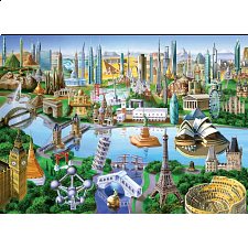 Collector Suitcase Jigsaw - 85 Landmarks of the World