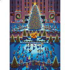 Collector Suitcase Jigsaw - Rockefeller Center