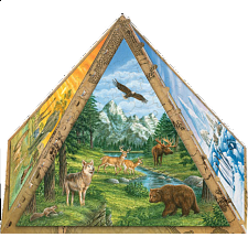 3D Pyramid Puzzle - Animals of the World
