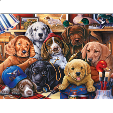 Furry Friends - Grandpa's Pups - Jigsaws