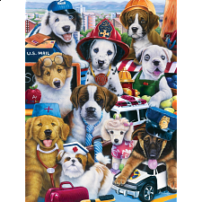 Furry Friends - Working Pups - Jigsaws