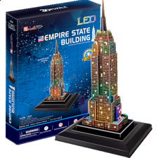Empire State Building - LED Lit - 3D Jigsaw Puzzle - 1-100 Pieces