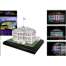The White House - LED Lit - 3D Jigsaw Puzzle - 3D