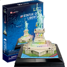 Statue of Liberty - LED Lit - 3D Jigsaw Puzzle - 1-100 Pieces