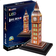 Big Ben - LED Lit - 3D Jigsaw Puzzle - 3D