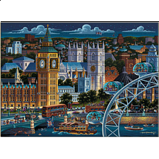 Collector Suitcase Jigsaw - London