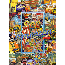 Collector Suitcase Jigsaw - See America - Search Results