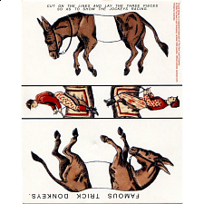 Famous Trick Donkeys - Trade Card - Paper Puzzles